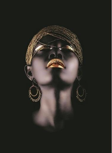 Chic Life Chic Life Afrikalı Kadın Temalı Dekoratif Kanvas Tablo 50*70 cm Renkli